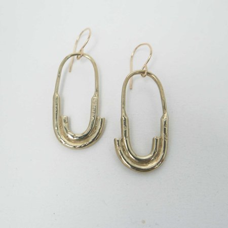 Fade into the Abstract Roam Earrings - Brass