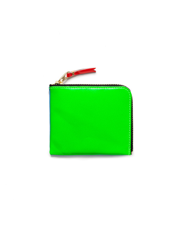 Comme des Garcons Super Fluo 3/4 Zip Wallet - Green/Blue
