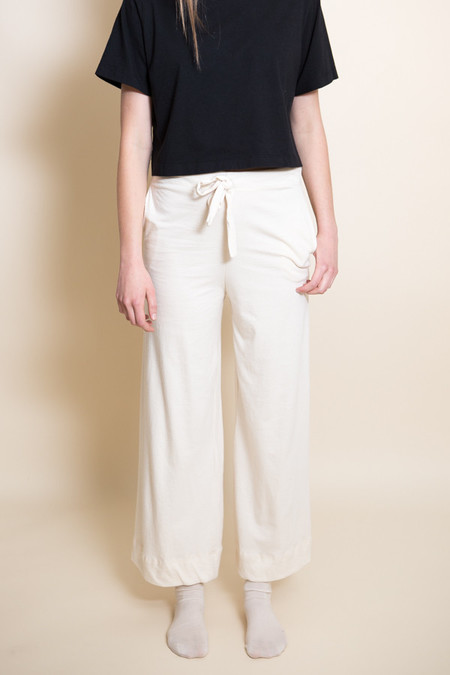 Pansy Drawstring Pants / Natural
