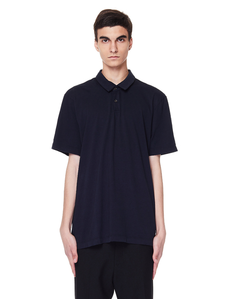 James Perse Navy Blue Supima Cotton Polo T-Shirt