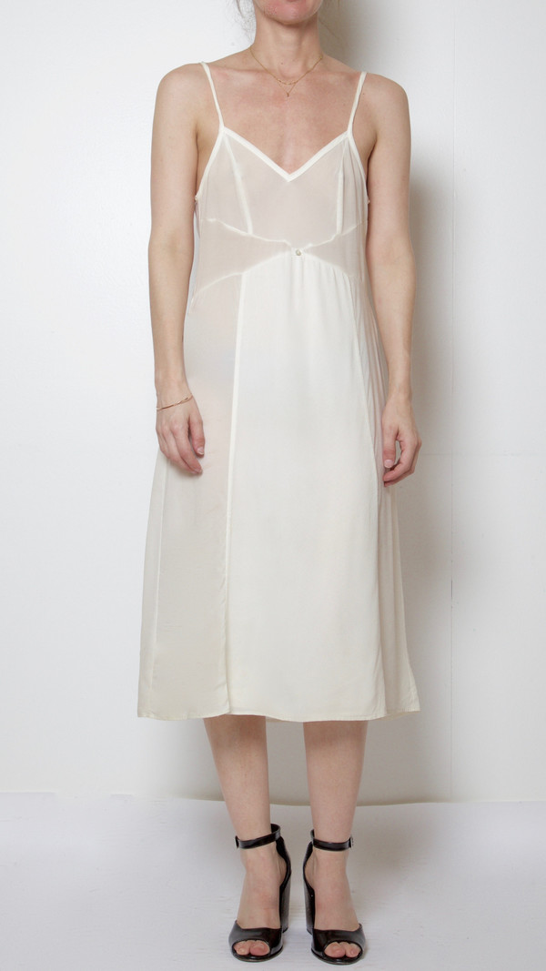 Botanica Workshop Vetiver Slip-Dress in White