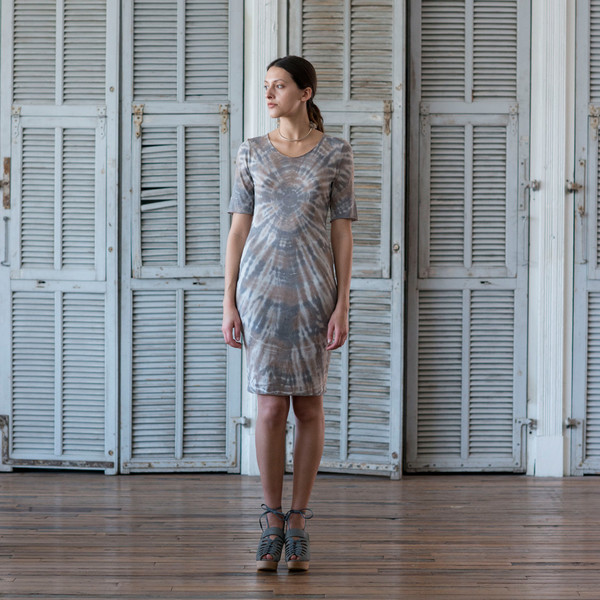 Raquel Allegra Tie Dye Fitted Dress