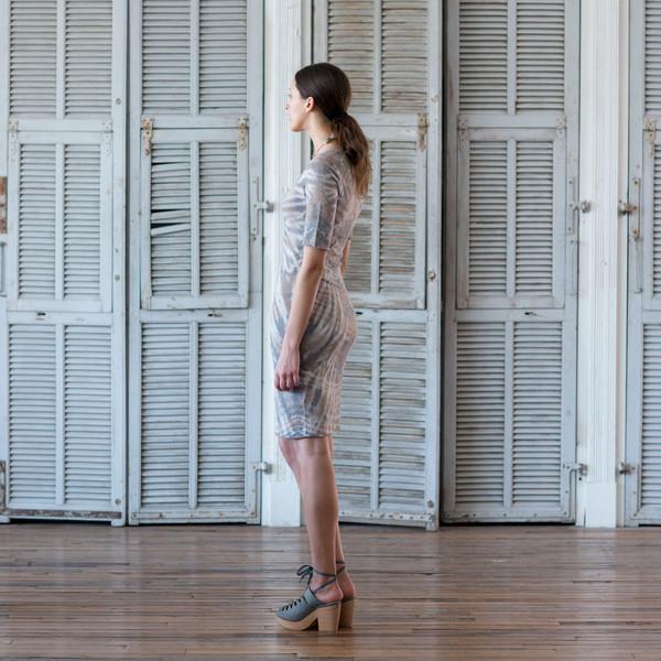 Raquel Allegra Tie Dye Fitted Dress