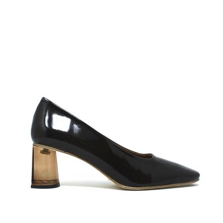 Miista Adina Patent Leather Heels - Brown