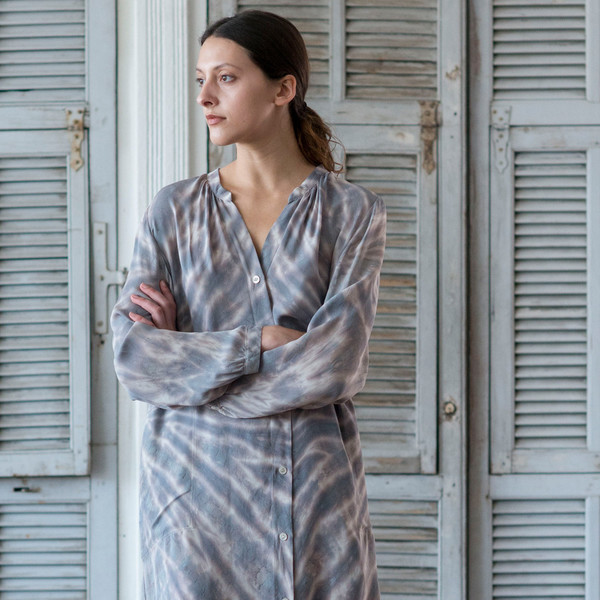 Raquel Allegra Tie Dye Shirt Dress