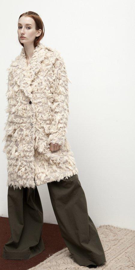 SCHAI Plush Luxe Uni Coat - Blush Beige