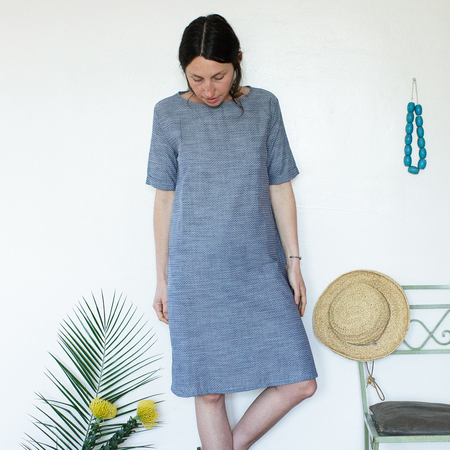 Me & Arrow Tall Dress - Dot Chambray