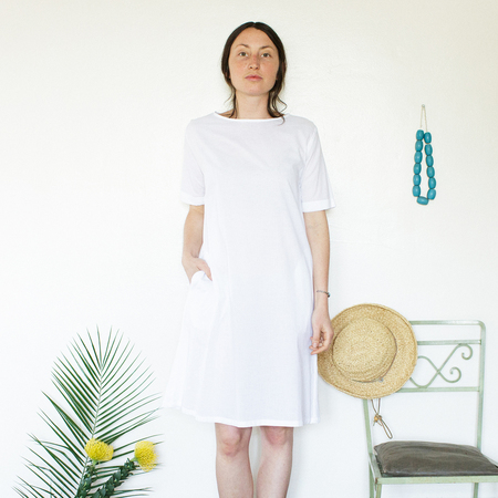 Me & Arrow Tall Dress - Lightweight Cotton White