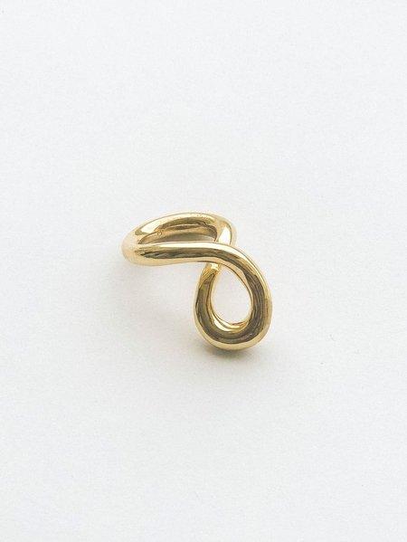 JANE D'ARENSBOURG Metal Mobius Twist Ring - Brass