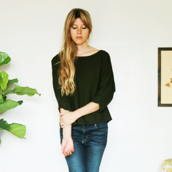 Unknown Dolman 3/4 Sleeve Top<br>Dark Olive
