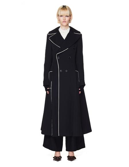 Yohji Yamamoto Black Wool Double Breasted Coat