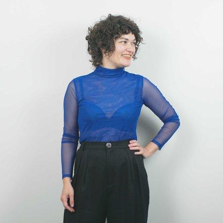 Sarah Liller Joni Mesh Turtleneck - Prussian Blue