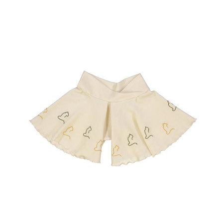Kids Petit Mioche Organic Embroidered Merino Wool Shorts - Cats