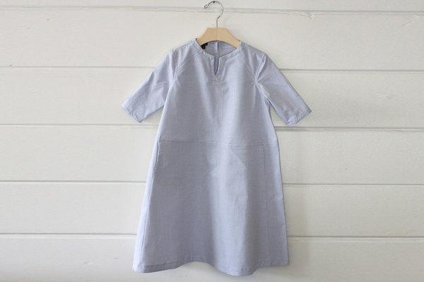 pietsie Tangier Dress in Pale Blue Stripe