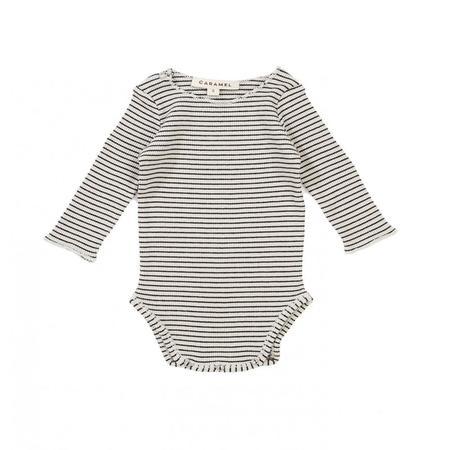 Kids Caramel Zephyrus Baby Body - Oyster Stripe