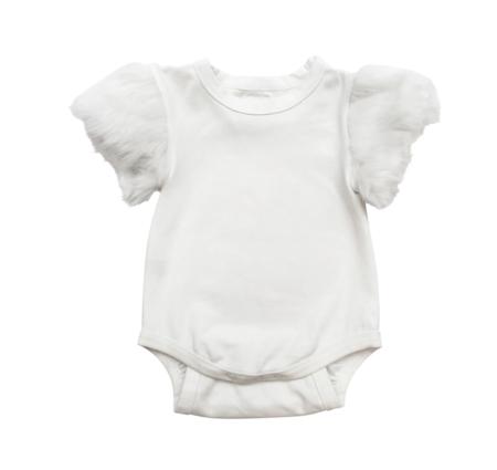 Kids The Tiny Universe Tiny Faux Fur Bodysuit - White