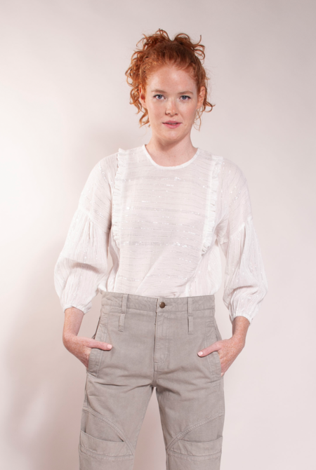 Built by Wendy Frill Blouse - Natural White
