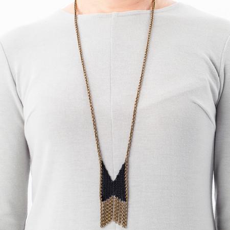 Boet Mini Chevron Fringe Necklace