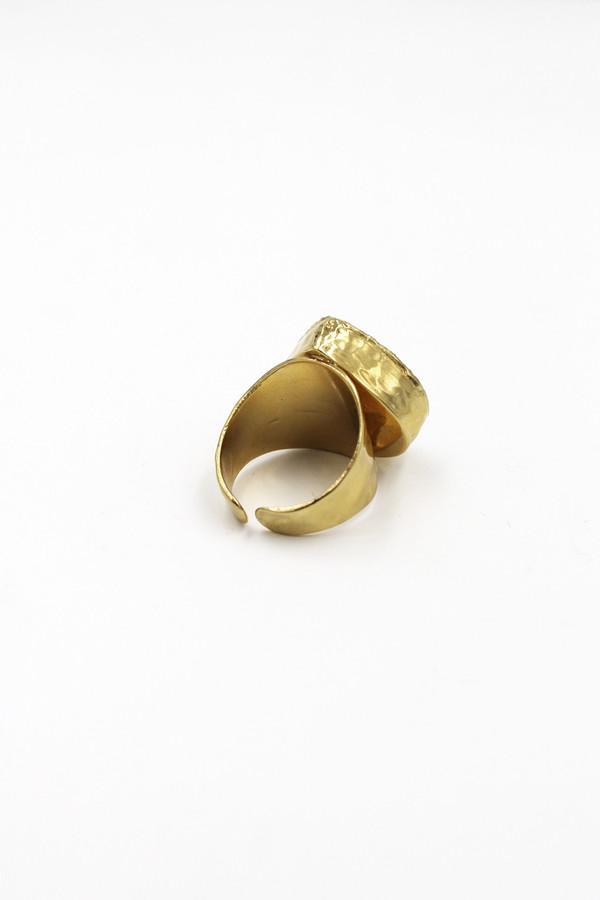 Sheila B Rainbow Moonstone Ring