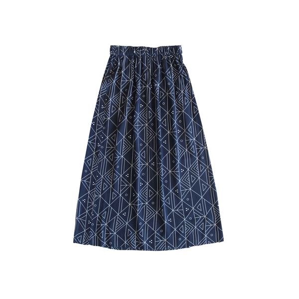 Ali Golden Printed Midi Skirt