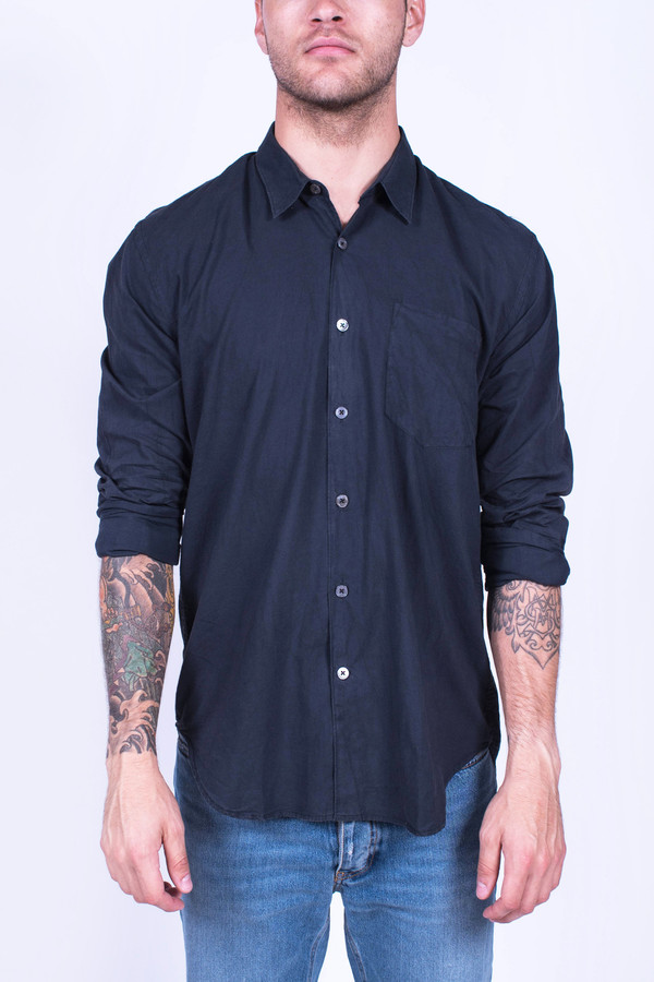 Men's Our Legacy First Shirt Black Poplin