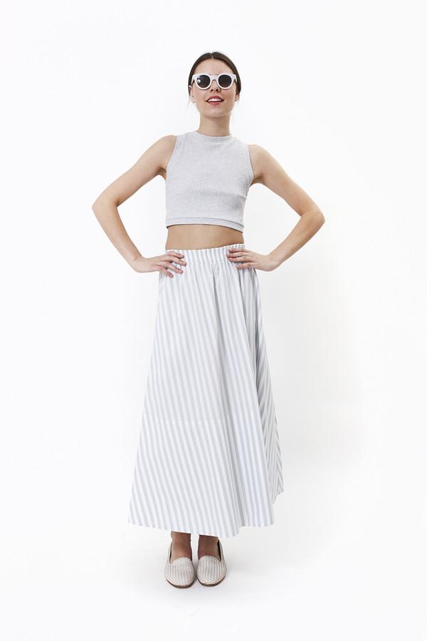 Mr. Larkin Lauren Skirt (Grey Stripe)