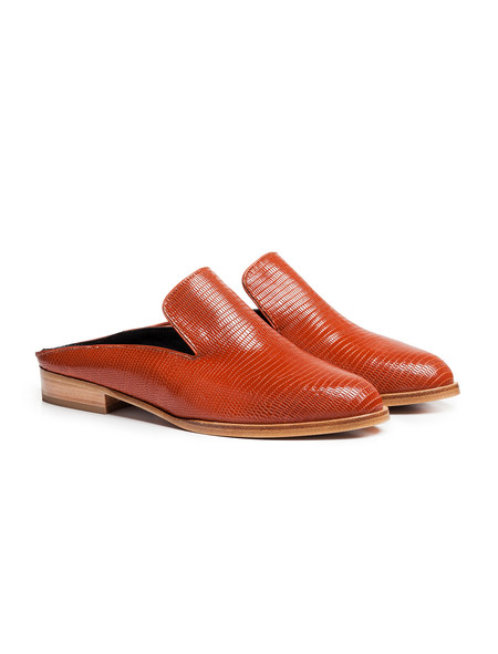 Robert Clergerie Womens Alicio Mule - Rust