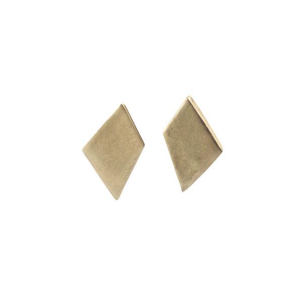 Emmy Trinh Jewelry Lovisa Diamond Earrings in Bronze