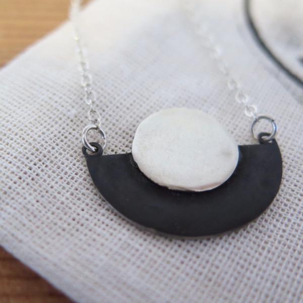 Swim To The Moon Mini Sarakiniko Necklace- Sterling Silver
