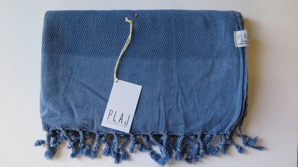 Plaj Portland Stone Washed Towel- Denim