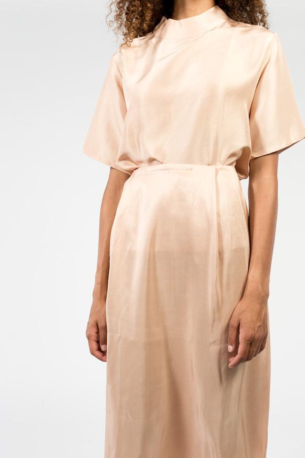 KAAREM Patches Midi Silk Skirt