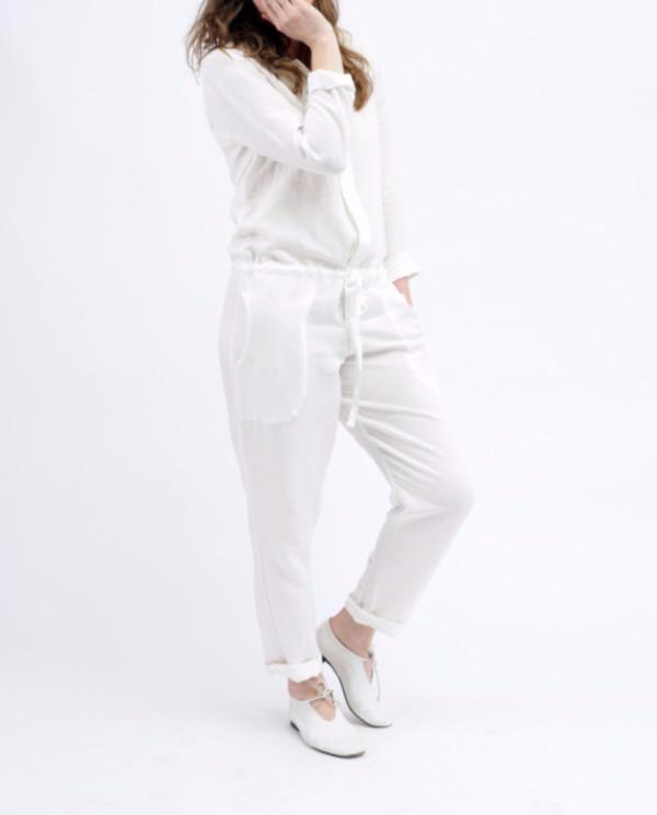 Nahanni Arntzen Marcus linen jumpsuit, white
