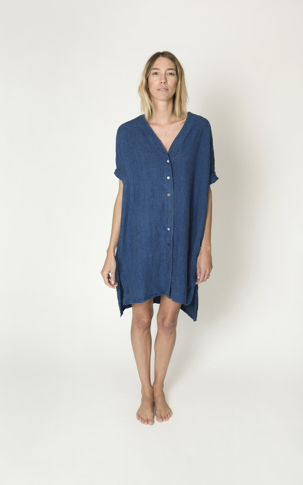 Ilana Kohn Lola Dress in Linen Chambray
