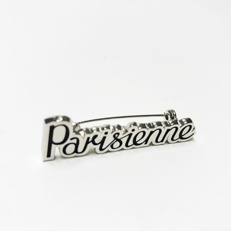 Kitsune Parisienne Brooch - Nickel