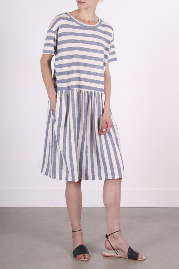 Calder Blake Elodie Dress in Nico Stripe