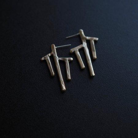 Iron Oxide Nazca Post Earrings