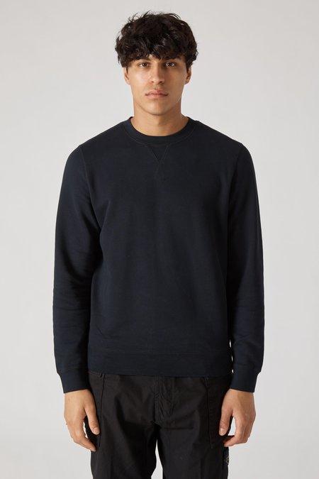 Sunspel Crew Neck Fleece Sweatshirt - Black