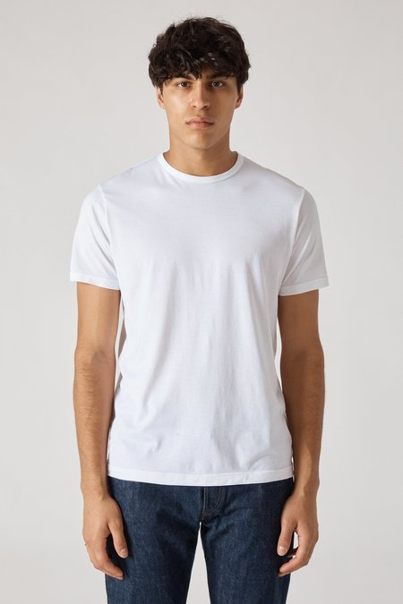 Sunspel Short Sleeve Crew Neck T-Shirt - White