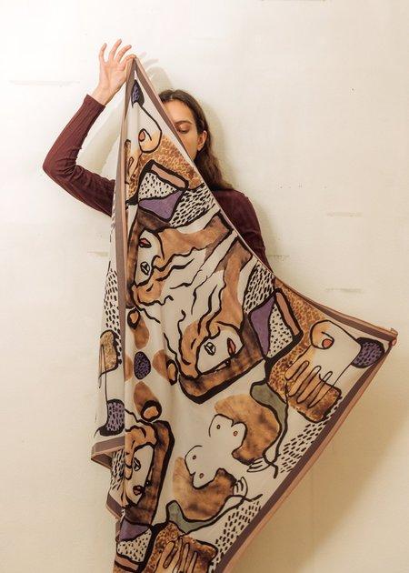 Komana Cor-Bustier Scarf - Peace Silk