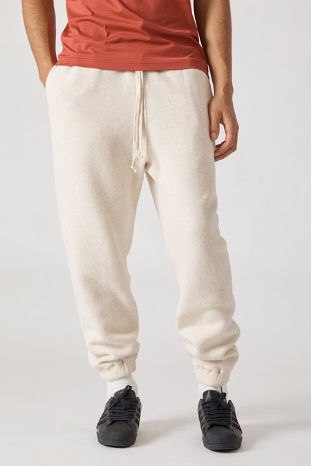 TS(S) Cotton Lyocell Double Brushed Jersey Sweat Pants - Oatmeal