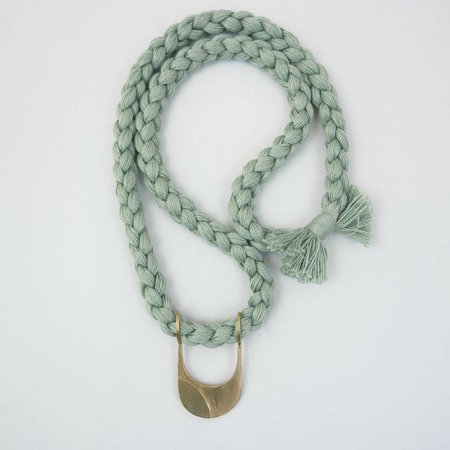 Rebekah J Designs Canal Necklace - Brass/Mint