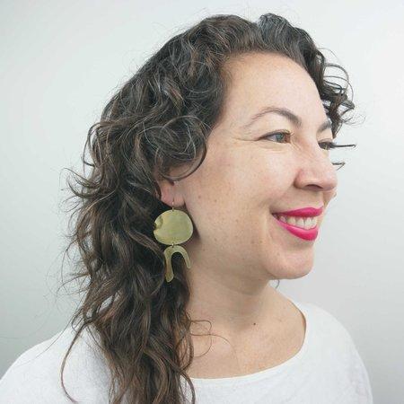 Rebekah J Designs Dodger Hook Earrings - 14k Gold