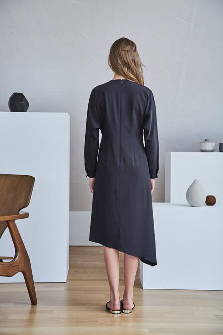 Maison De Ines UNBALANCE WRAP DRESS - Black
