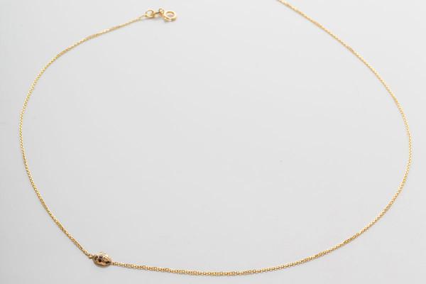Jennie Kwon Designs Floating Diamond Ladybug Necklace