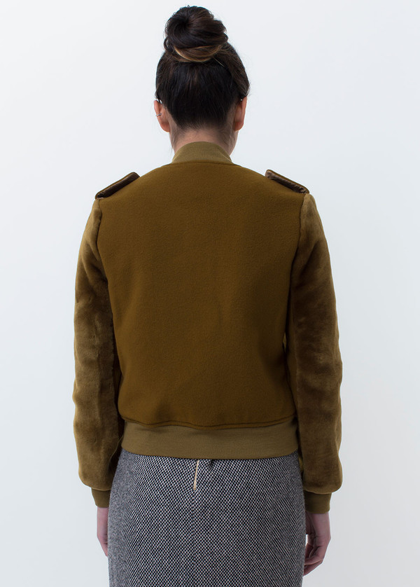Kidd Fur Trimmed Bomber Jacket