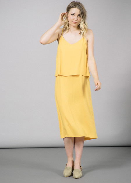 Storm & Marie Lucca Yellow Long Dress