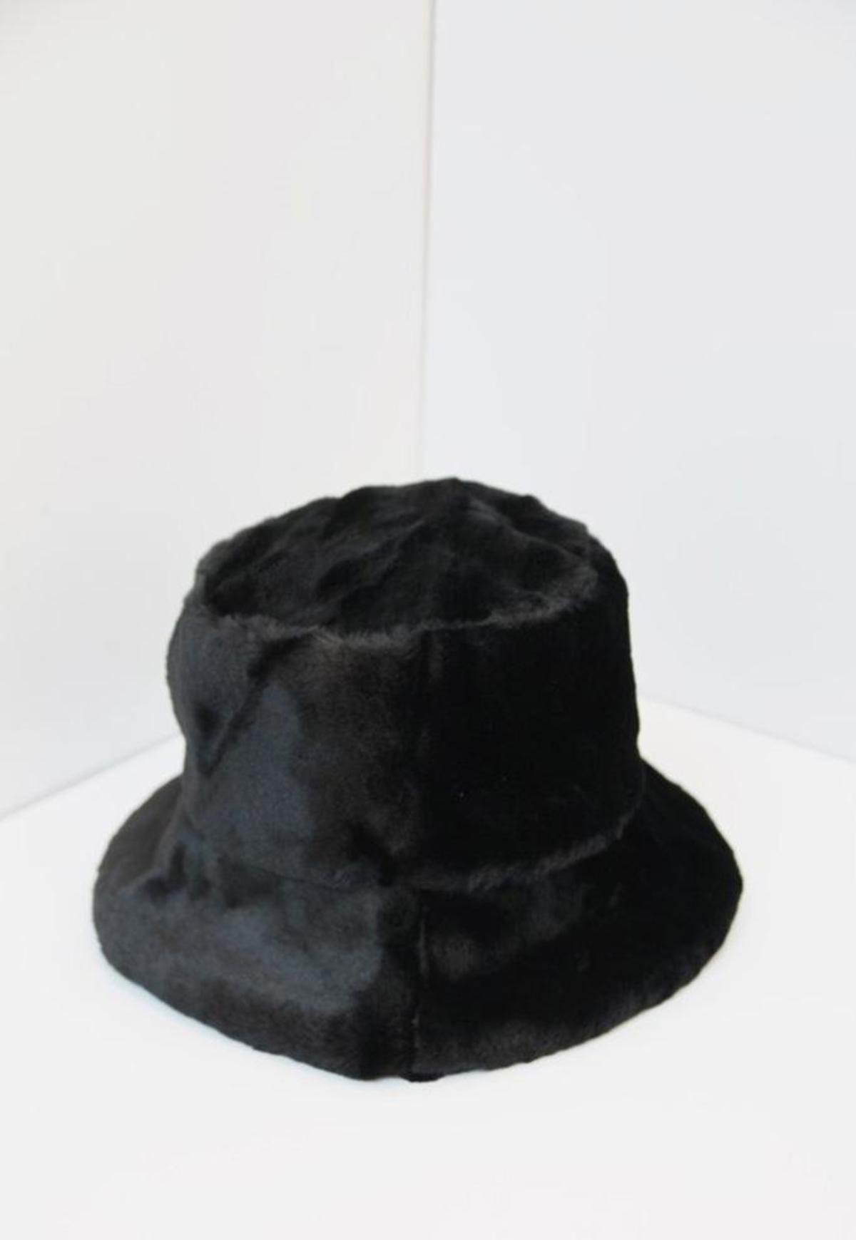 Faux Fur Hat Black Cheaper Than Retail Price Buy Clothing Accessories And Lifestyle Products For Women Men