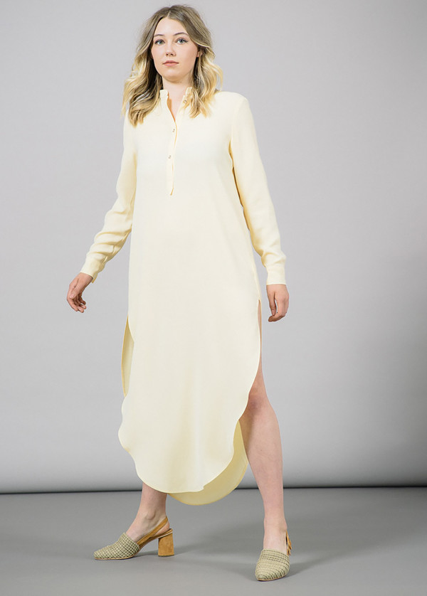 Nanushka Mong Shirtdress with Slits