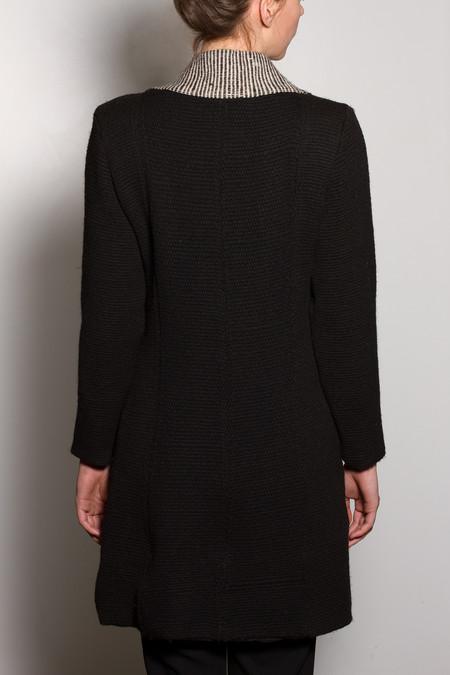 VOZ Textile Lapel Coat - Black/White