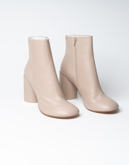Mm6 Maison Margiela 6 Heel Leather Boots - Nude